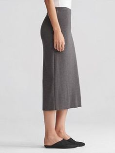 Pencil Skirt in Washable Wool Crepe-F7CW-S3976