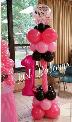 Minnie Mouse 1st birthday Balloons Decoration