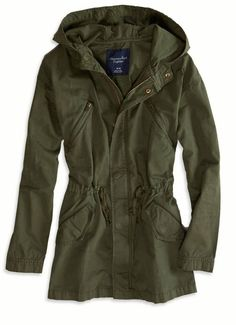 Olive green cargo jacket... Want one so bad!