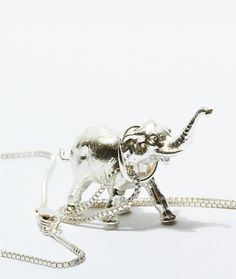 Silver Elephant Necklace ♡ {his trunk is up for good luck} Elephant Necklace Silver, Elephant Jewelry, I Love Jewelry, Unique Jewelry, Ring Necklace, Roll Tide, Jenni, Jewelry Bracelets, Passion For Fashion