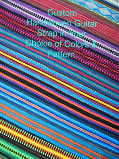 Custom Woven Guitar Strap >> Design Your Own Strap Pattern >> Choose Your Colors for