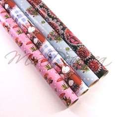 Beautiful Roll Wrap Paper Edith - MiaDeRoca Shops, Floral Tie, Home Accessories, Interior Decorating, Easter, Beautiful, Wrapping Papers, Mushrooms, Gifts