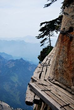Hua Shan, China ... Most dangerous trail in the world