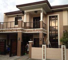 Modern Exterior House Designs, House Paint Exterior, Modern Architecture House, Exterior House Colors, Modern House Plans, House Floor Plans, Modern Zen House, House Outside Design, House Front Design