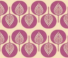 tree_hearts_purple_linen fabric by holli_zollinger for sale on Spoonflower - custom fabric, wallpaper and wall decals