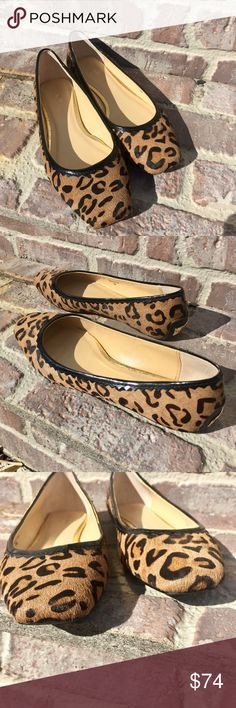 Kate Spade Leopard Calf Hair Flats These are in fantastic condition! I absolutely love these but they're a half size too small and kill my feet! They are made of calf hair. These is a small knick on the bottom as shown in the last photo. These will not come with a box but will come with a Kate Spade dust bag 🚨 Look closely at the photos to know what exactly you are receiving and the condition that it's in! Smoke/Pet free home. Bundle 2+ of my items to save 15%. I do not trade or hold items…
