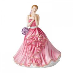 Royal Doulton Pretty Ladies Rebecca (17980 RSD) ❤ liked on Polyvore featuring home, home decor, pink home decor, spring home decor, royal doulton, royal doulton figurines and lady figurines