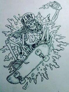 #illustration #skate #NOFX