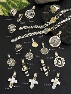 Piezas con origen religioso. Cruces, santos y virgenes.