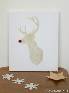 Sew Delicious: Rudolph Stencilled Christmas Canvas