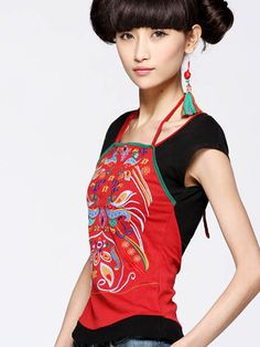 #Wholesale bellyband embroidery shirts  Only$12.00    #tops #dress #skirt #shirts #pants