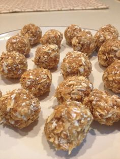 The Running Baker: PB2 Protein Bites (I will skip the protein powder because I don't like the flavor and add toasted coconut and maybe some chocolate chips)