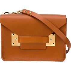 Sophie Hulme Mini Envelope Crossbody Bag (7.505.410 IDR) ❤ liked on Polyvore featuring bags, handbags, shoulder bags, purses, mini crossbody purse, mini cross body handbags, miniature purse, crossbody purse and mini crossbody handbags