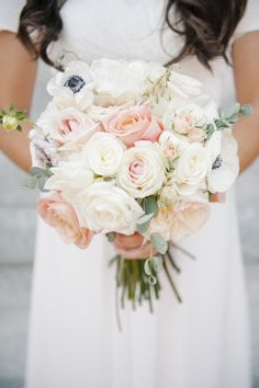 Rose and Anemone Bridal Bouquet | Flowers By Alicia | Brooke Schultz Photography | TheKnot.com