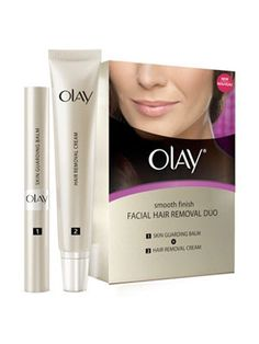 Best Facial Hair Remover System  Keep any unwanted pelitos at bay with this easy-to-use cream. No redness or irritation so you can de-fuzz and go.  Olay Smooth Finish Facial Hair Removal Duo- Medium to Coarse Hair, $24, Amazon.com