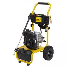 Stanley 2500PSI Petrol Pressure Washer, 2 Year Warranty. The Stanley 4HP 2500PSI Petrol Pressure Washer is ideal in cleaning your concrete driveway, paved areas, car, motorbike, truck, walls, windows or garden features. It includes a convenient 10m long heavy-duty hose and 5 interchangeable nozzles. This pressure washer is the perfect tool for any handyman wanting to make cleaning outdoors easier and faster. Pressure Washers, Concrete Driveways, Garden Features, Stained Concrete, Water Flow, Brickwork, Mold And Mildew, Outdoor Power Equipment, Commercial