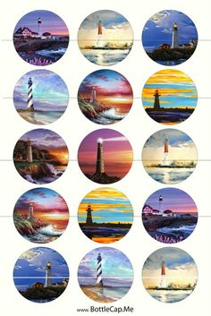 Lighthouse Magnets Pins Party Favors Hostess Gift Ocean Marine Sea Ocean Lovers Gift Lighthouse Magnets Lighthouse Pins Ocean by TheSteamPunkCatSlave Lighthouse Gifts, Gift For Lover, Lovers Gift, Cd Art, Polychromos, Color Pencil Art, Journal Stickers, Sea And Ocean, Aesthetic Stickers