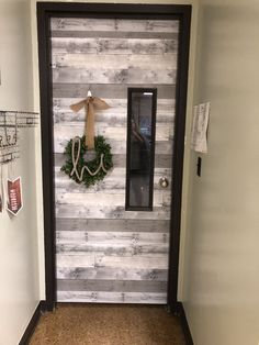 Farmhouse inspired classroom door! #Classroom #decoration #decorations #Door #Farmhouse #inspired