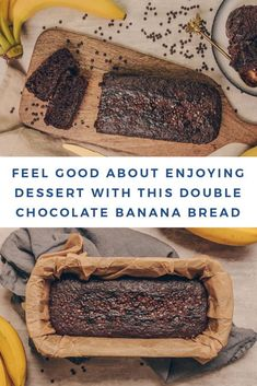 Take your dessert game to the next level with this Double Chocolate Banana Bread. This recipe is gluten, grain, and dairy-free and features nutrient-packed Cacao Bliss making this guilt-free treat a no-brainer. Good for body and soul, I'm showing you just how easy it is to make! Chocolate Banana Bread, Healthy Chocolate, Dark Chocolate Chips, Clean Eating Desserts, Healthy Desserts, Healthy Eating, Healthy Recipes, Dessert Games, Gluten Free Grains