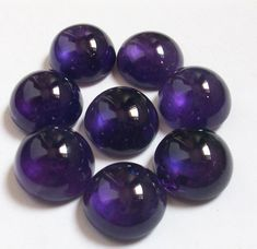 14X14 mm wow......AAA  Natural AMETHYST Round cabochon have lots of gorgeous..... beautiful purple color....