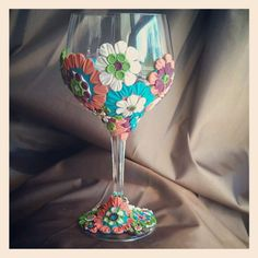 Another project I've been working on...wine glass with polymer clay design. This was a sample I made for a class i will be teaching this summer at Two Twelve art center, in Saline.