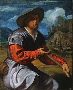 Savoldo, Giovanni Girolamo (1480-1548) - Shepherd with a Flute с.1525. size 3377х4141