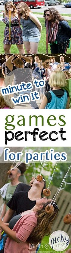 Minute to Win it Games Perfect for Parties| Party Games, Fun Party Games, DIY Party Games, Games for Parties, Party Stuff, DIY Entertainment, Summer Parties, Summer Party Ideas, Popular Pin