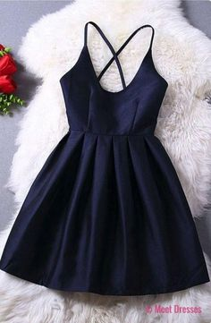 Homecoming Dress,Cute Homecoming Dress,Short Prom Dress,Navy Blue Homecoming Gowns,Beaded Sweet 16 Dress PD20184235