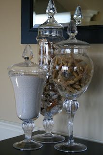 Seasonal Apothecary Jar Displays