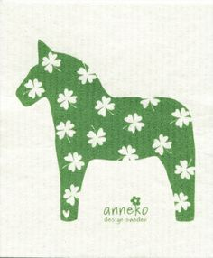 Green Dala Horse w/Shamrocks Dish Cloth - might have to get this. :)