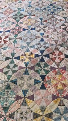 A Kaleidoscope quilt by Lucy Boston, posted by Dovegreyreader. Go look at the whole posts - so many stunning EPP quilts there.
