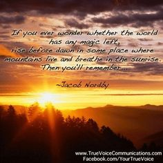Thanks to @truevoice  for creating and sharing this today. #magic #life #jacobnordby #mountains