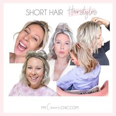 Short hair can be so much fun when you get comfortable experimenting. Here are 6 cute and easy hairstyles for short hair