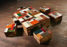 piet hein eek, scrap wood, stool, Table