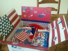 4th of july care package ideas - like the hearts for flag deco