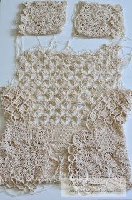 Outstanding Crochet: Progress with the Beige Cardigan and my charts. - Crochet blouse - Outstanding Crochet: Progress with the Beige Cardigan and my charts. Crochet World, Débardeurs Au Crochet, Cardigan Au Crochet, Crochet Bolero, Beau Crochet, Pull Crochet, Gilet Crochet, Crochet Motifs, Crochet Jacket