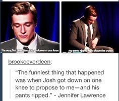 hahaha poor Josh...but of course that would happen to him