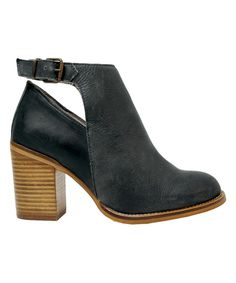 Look at this Musse & Cloud Black Denna Leather Ankle-Strap Boot on #zulily today!