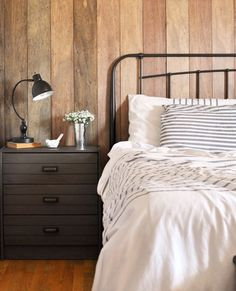 Happy Weekend!   Looking for a project?  Add interest to a simple bedroom by creating an accent wall with reclaimed wood.  Details here:   Thanks @CherishedBliss for the inspiration!