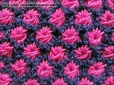 Aster Flower Knitting Stitch
