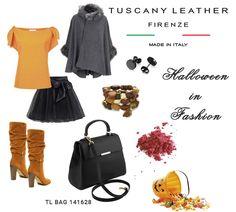 Have a nice Halloween Fashion Night https://www.tuscanyleather.it/en/leather-handbags/tl-bag-small-saffiano-leather-duffel-bag-black-TL141628  TL BAG (TL141628) Small Saffiano leather duffel bag