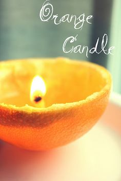 orange peel candle...yum