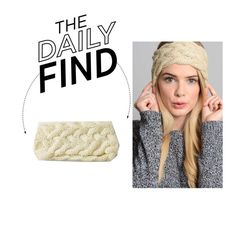 """""""The Daily Find: Cable Knit Headband"""" by polyvore-editorial ❤ liked on Polyvore featuring mode et DailyFind"""
