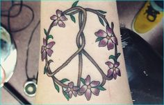d0aa4a920 30 Cool Peace Sign Tattoo Meaning and Ideas - Anti-War Movement Symbol