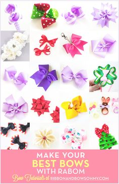 SO many ways to make a Boutique Bow! Choose which one works for you!