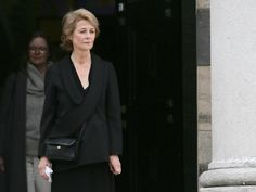 Charlotte Rampling attending Jean-Noel Tassez's funeral