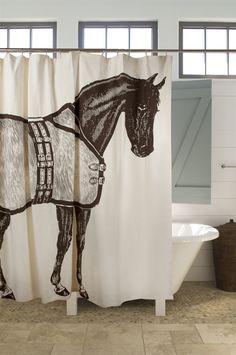 Horse shower curtain at shop thomaspaul  rideau de douche cheval