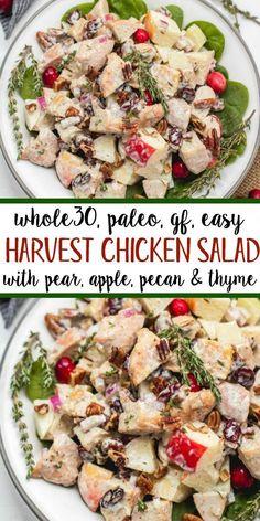 Whole30 Chicken Salad, Chicken Salad With Apples, Chicken Salad Recipes, Mayo Chicken, Mexican Chicken, Chicken Flavors, Harvest Chicken Salad Recipe, Salad Chicken, Grilled Chicken