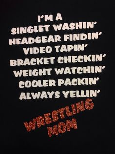 Wrestling Mom saying tshirt by TripleMEmbroidery on Etsy, $30.00