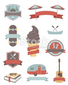 Summer Design Elements Royalty Free Stock Vector Art Illustration